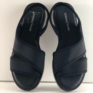 Donald J Pliner Barta Crepe Elastic Black Sandals